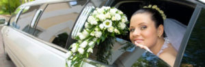 Bride in the Lodi Limo